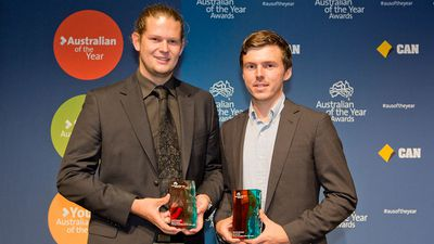 <p><strong>Nic Marchesi and Lucas Patchett – Young Australians of the Year</strong></p><p>Sometimes it's the most basic of modern amenities that can make all the difference – so found out Nic Marchesi and Lucas Patchett.</p><p><br>The pair designed and built a mobile laundry using an old van kitted out with washers and dryers, providing an accessible and completely free laundry service to those most in need. </p><p><br>Orange Sky Laundry commenced in 2014, and since the mobile laundry concept has expanded to many Australian capital cities, and was even present in North Queensland following cyclones in February 2015. </p>