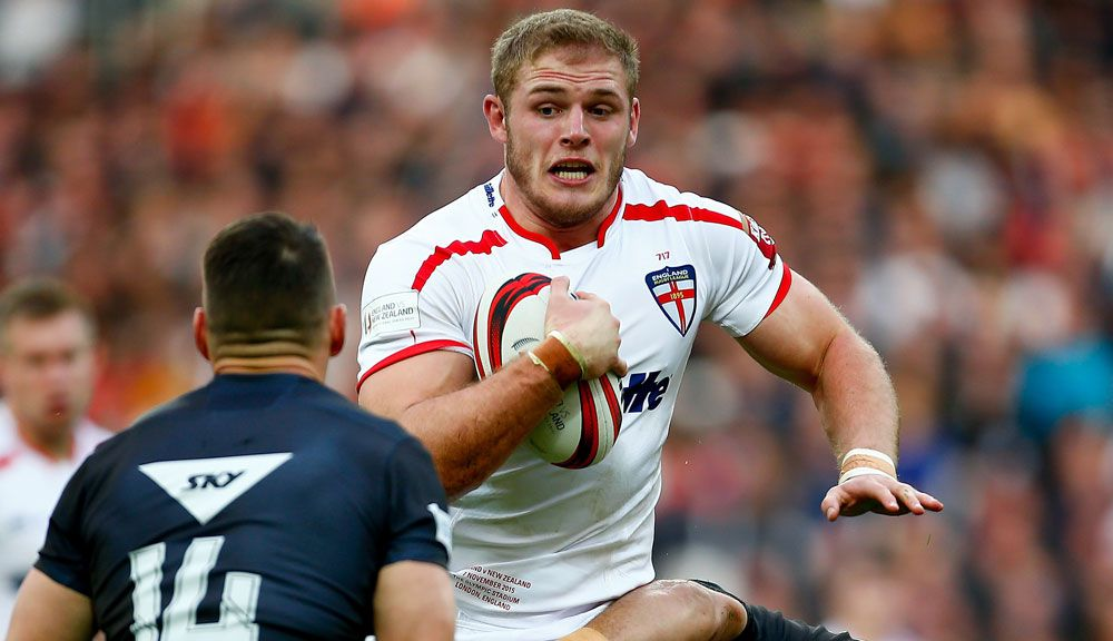 Tom Burgess playing for England against New Zealand. (AAP)