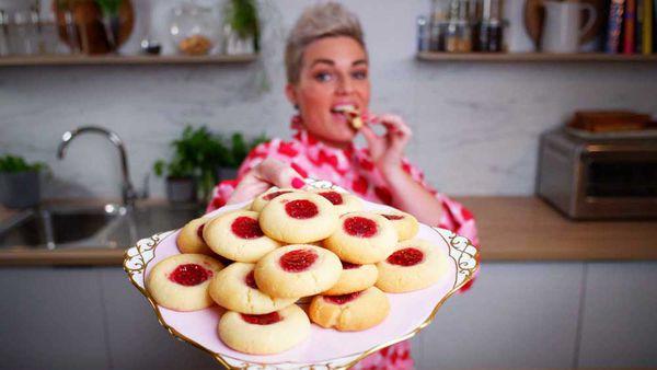 Jane de Graaff's easiest ever jam drop 'thumb print' cookies