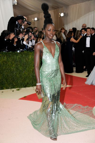 <p>Lupita Nyong'o at the&nbsp;Costume Institute Gala in New York, 2016</p>