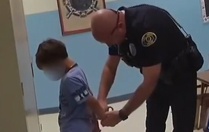 US police arrest 8-year-old boy before realising his wrists were too small for handcuffs