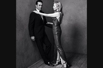 @vanityfair: #MadMen star Jon Hamm and Jennifer Westfeldt pose for @markseliger at our #Oscars portrait studio. #Regram via @vfhollywood.