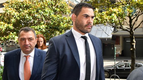 NRL star and former Australian captain Greg Inglis arrives at court on drink-driving charges.