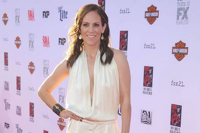 Lucky the new sheriff, Annabeth Gish, is on hand.