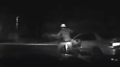 The driver allegedly sped off and then got out of his car to flee police. (Fairfax County Police Department)