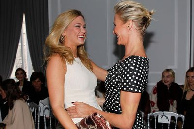 Model <b>Bar Refaeli</b> gets along famously with ex-model-turned-actress <b>Cameron Diaz</b>.  Pic: Getty