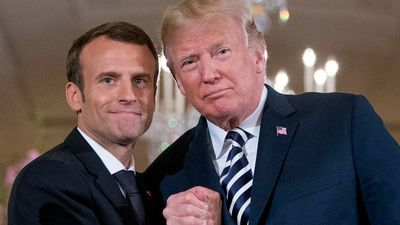 'I like him a lot': Trump fawns over French president