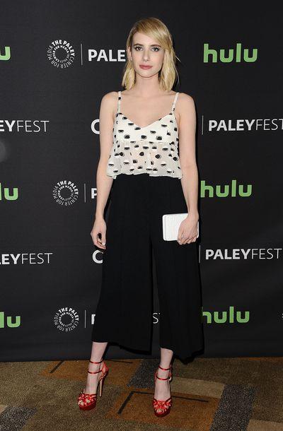 Emma Roberts attends a <em>Scream Queens</em> event in Hollywood.