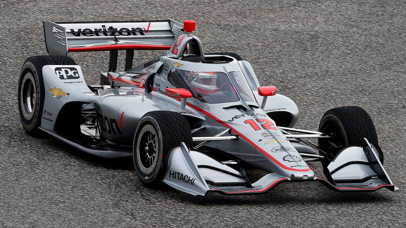 Australia's Will Power driving during  IndyCar Spring training.