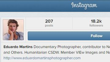 Eduardo Martins' Instagram account which has since been taken down.