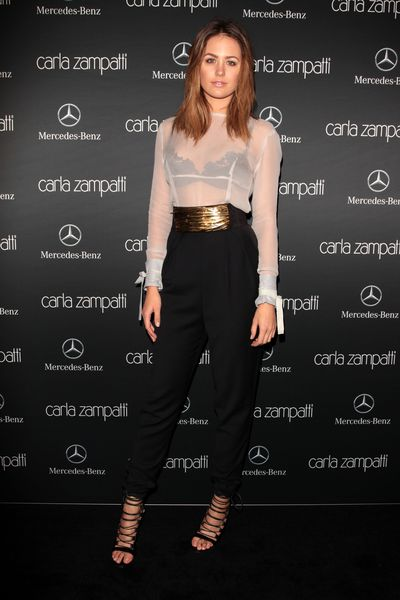 Jesinta Campbell at the Carla Zampatti show during Mercedes-Benz Fashion Week in Sydney, April, 2014