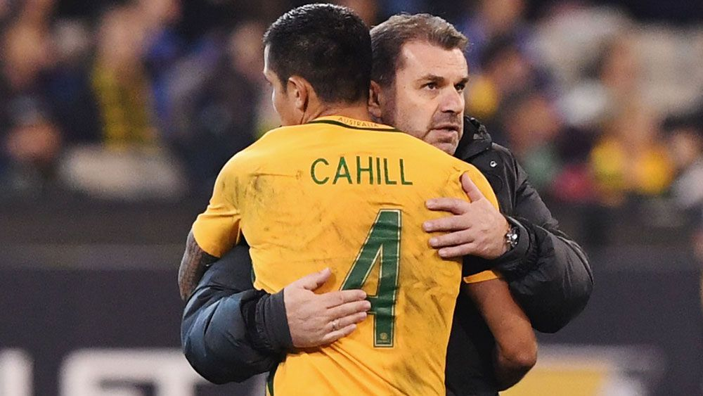 Socceroo Tim Cahill backs embattled Ange Postecoglou ahead of crunch play-off against Syria