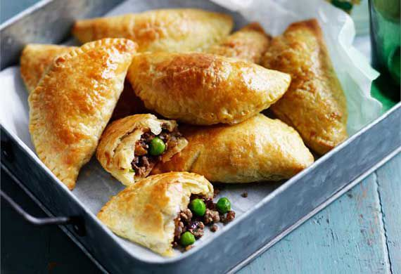 Beef, chilli and potato empanadas with tomato relish