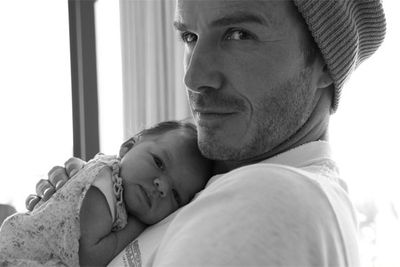 ...with baby Harper.