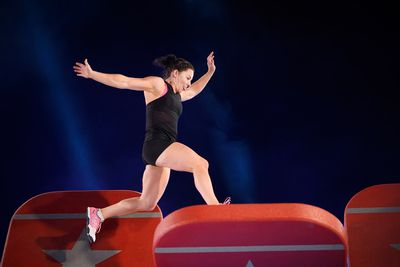 Personal trainer Tara Evans takes on the Bridge of Blades.