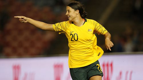 Matildas star Sam Kerr is leading the charge for Australian women's football as the game becomes more popular.