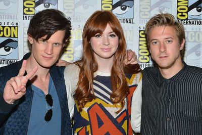 More like <i>Dr Hot</i>... <i>Dr Who</i> stars Matt Smith, Karen Gillan and Arthur Darvill.