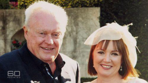 Graham Richardson and wife Amanda. (60 Minutes)