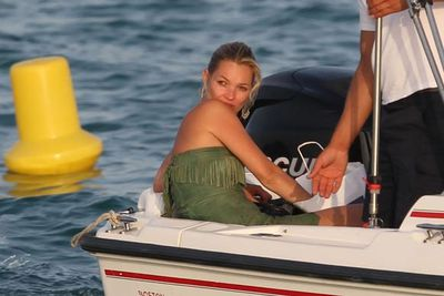 After a holiday in Australia, Kate unwound in St Tropez