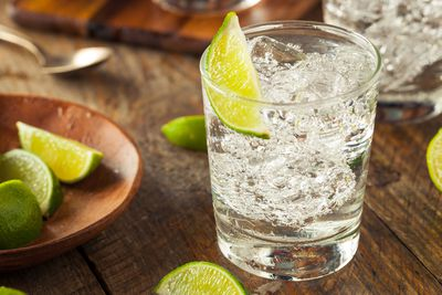 For vodka and soda (40 calories/100ml)