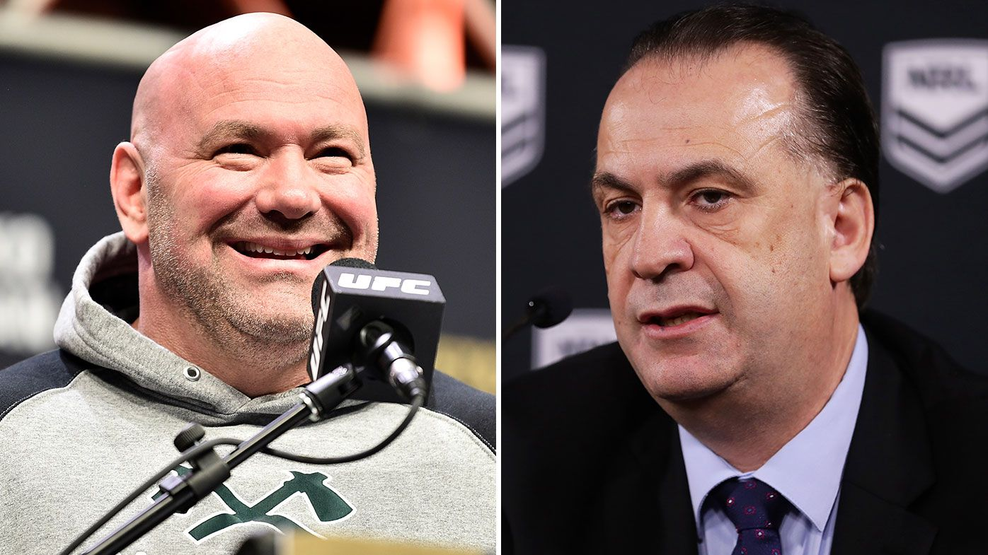 UFC boss Dana White offers his support to the NRL and Peter V'landys