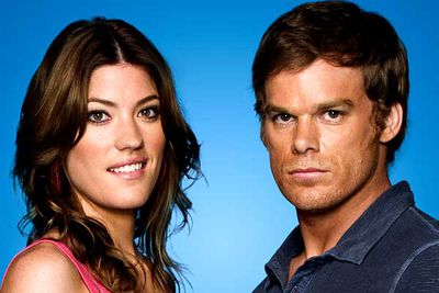 <B>The couple:</B> Michael C. Hall and Jennifer Carpenter, who play the Morgan siblings Dexter and Deborah. To be fair, Dex and Deb aren't <I>biological</I> siblings — he's her adopted brother. In real life, the couple has tied the knot.