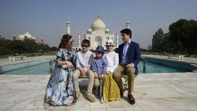 Justin Trudeau and family visit the Taj Mahal
