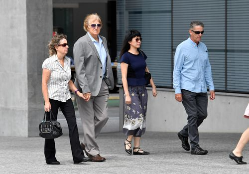 Friends and family arrive at court today to learn Heidi Strbak's future. Picture: AAP