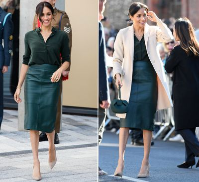 Meghan Markle steps out for her first official visit to Sussex, October, 2018.