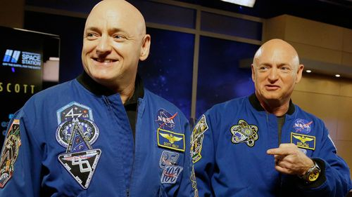 NASA astronaut Scott Kelly, left, and his identical twin, Mark.