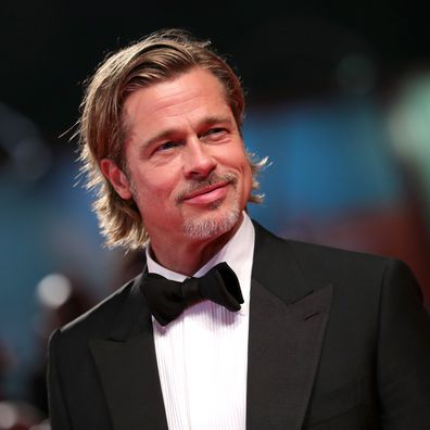 """Brad Pitt walks the red carpet ahead of the """"Ad Astra"""" screening during the 76th Venice Film Festival at Sala Grande on August 29, 2019 in Venice, Italy."""