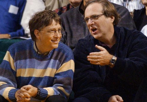 Bill Gates, left, and Paul Allen co-founded technology giant Microsoft in 1975.