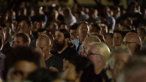 Around 6000 people attended Darwin's Anzac Day dawn service this morning. Picture: 9NEWS.