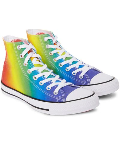 "Converse Pride sneakers $120 at <a href=""https://www.generalpants.com.au/shop-mens/converse/footwear/ct-pride-pack-hi-multi-coloured-1000067722-M03?gclid=CjwKEAjwvYPKBRCYr5GLgNCJ_jsSJABqwfw7dDz9C2xUaA45Mg9-HAlqoV2fh7Z4iRXn49UzCpc5ehoCMhzw_wcB"" target=""_blank"">General Pants</a><br>"