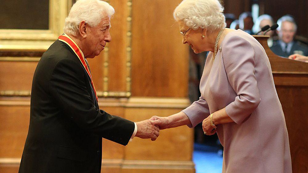 Former FFA boss Frank Lowy knighted by Queen Elizabeth II in London
