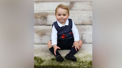 Prince William and pregnant Duchess Kate released three official photos of the little prince, soon to be 17 months old, for Christmas. (AAP)