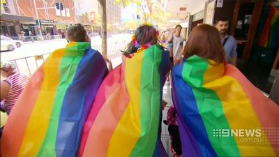 The parade is well known for its dizzying array of colours. (9NEWS)