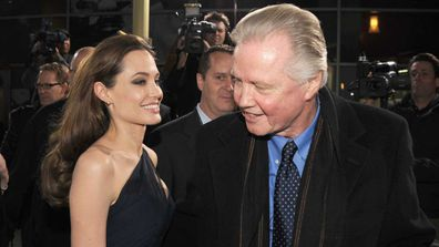 John Voight with his daughter, Angelina Jolie.