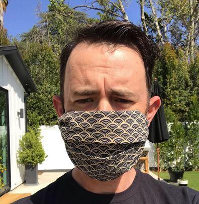 Tom Hanks, son, Colin Hanks, wears mask, coronavirus
