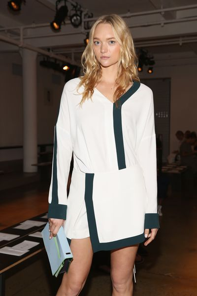 Gemma Ward in Dion Lee at New York Fashion Week, September 2015. Image: Getty