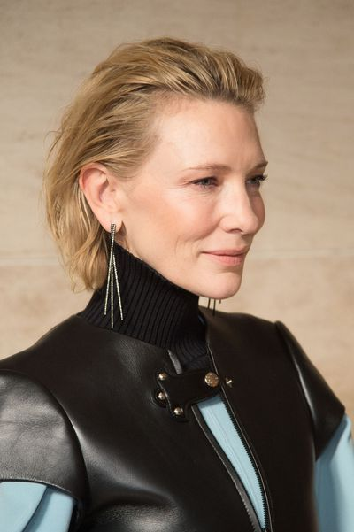Hair swept back and makeup natural, Cate was impressive.