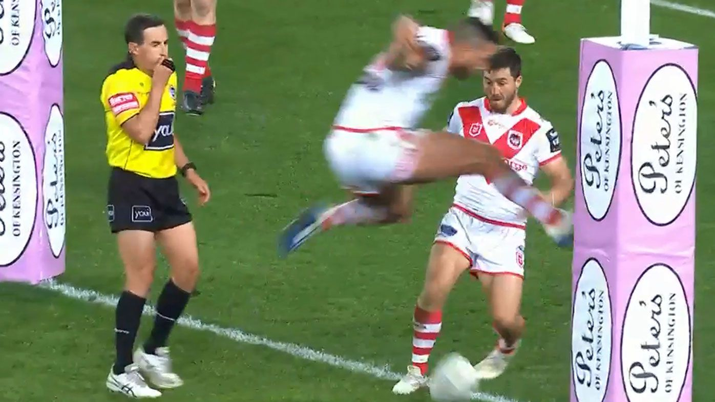 Phil Gould rages at 'awful' refereeing decision on botched Dragons line drop-out