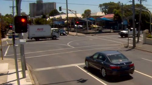 Video shows the truck travelling in Footscray in December 2015.