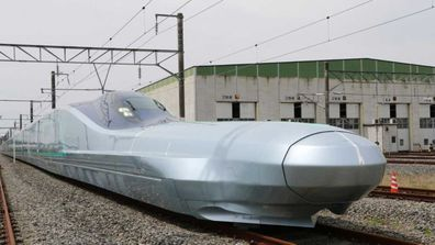 World's fastest bullet train in Japan, the ALFA-X