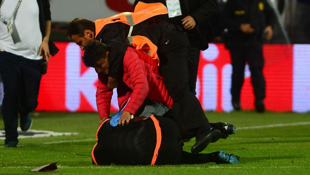 Linesman savagely attacked by fan in Turkey