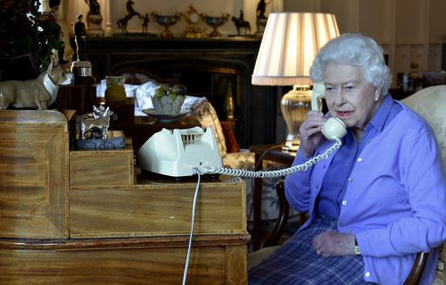 The Queen working from Windsor Castle during the coronavirus crisis.