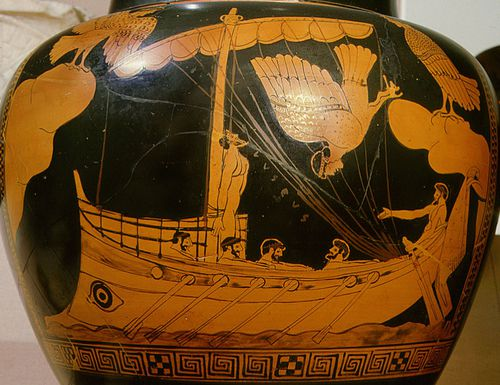 Ancient Greek pottery such as this one in the British Museum depicts a similar shaped ship to the one found in the Black Sea.