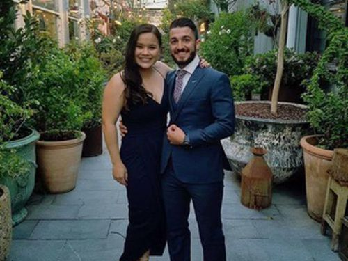 Mr Vidal pictured with his fiancee. The couple had been planning their upcoming wedding.