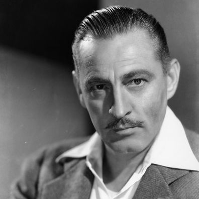 A portrait of actor John Barrymore, circa 1940.
