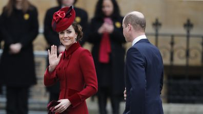 Prince William and Kate Middleton at the 2020 Commonwealth Day Service.